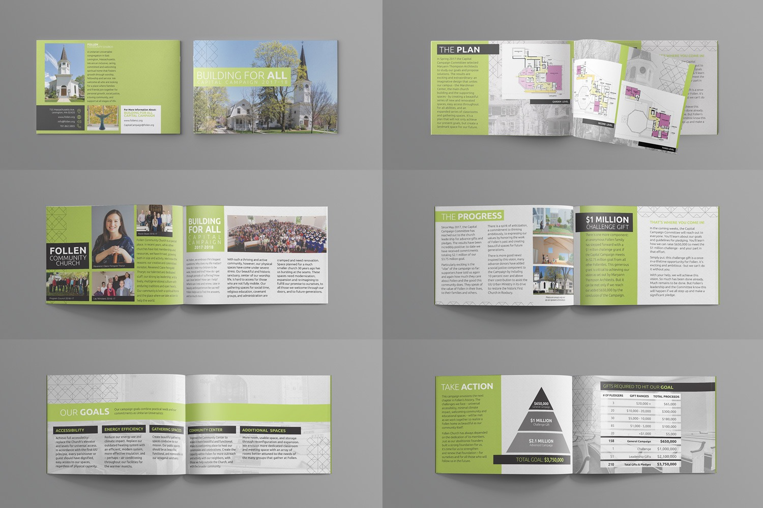 Church capital campaign brochures for stewardship case statement design ideas, examples