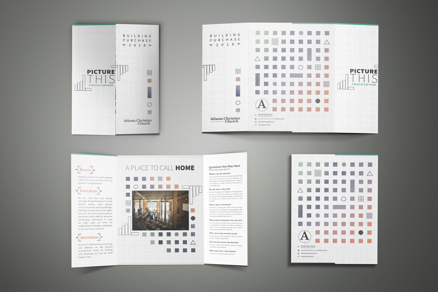 church marketing open gate fold  brochure for outreach design and printing