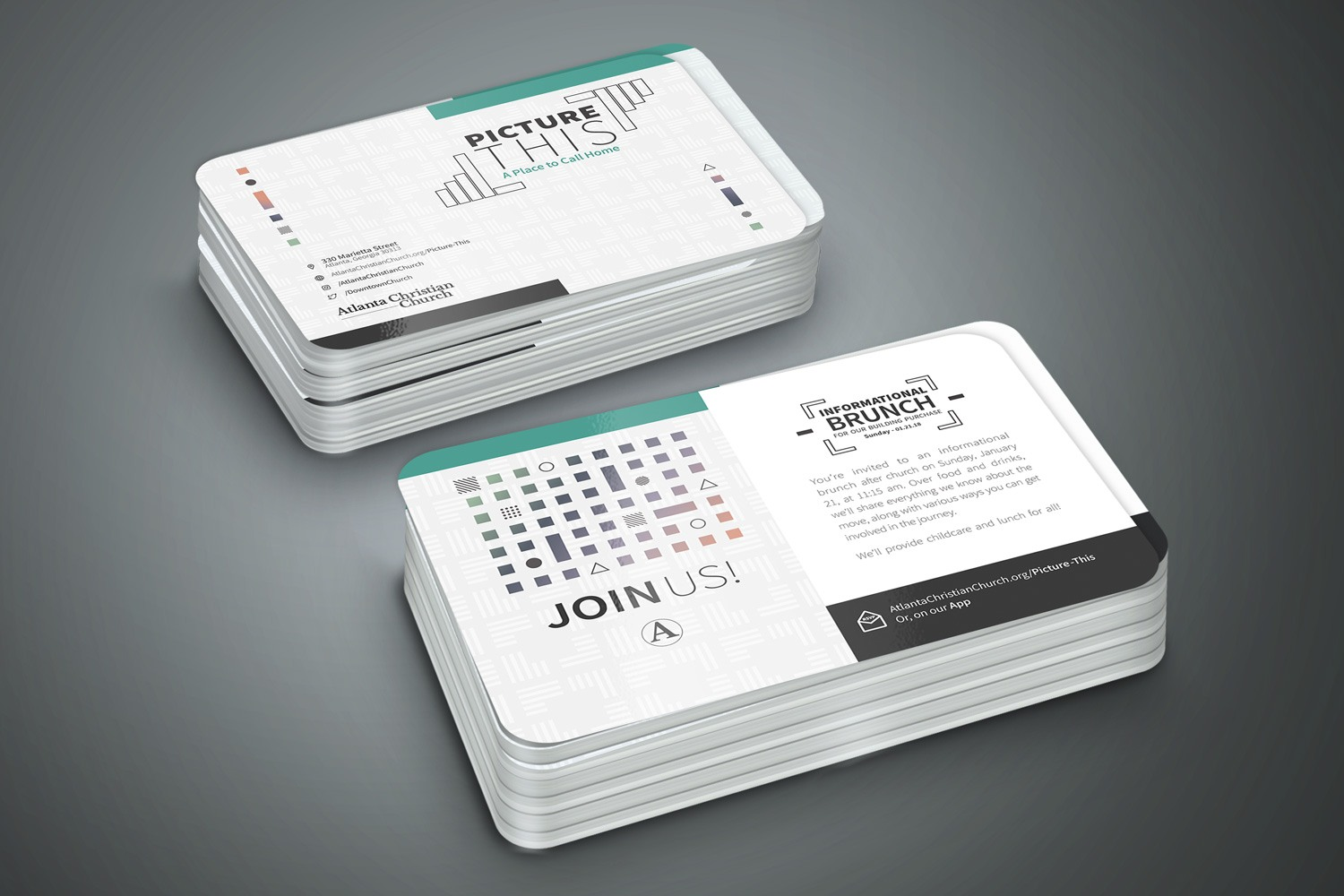 Church postcards minimalist design and printing marketing & outreach ideas
