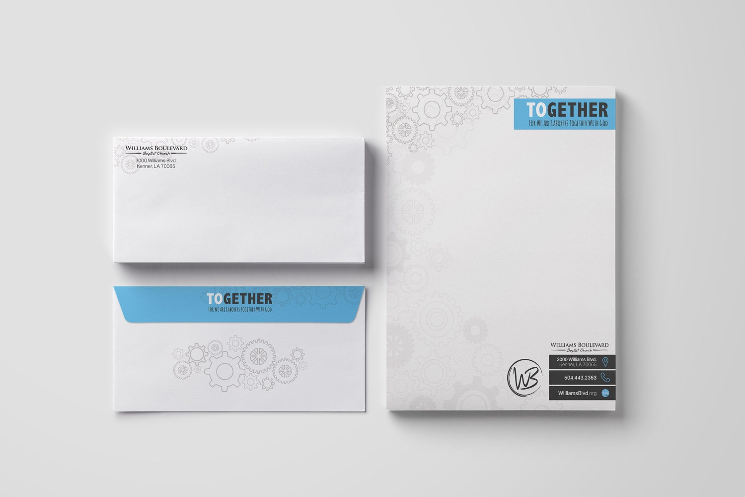 Letterhead & Envelopes for church capital campaign stewardship design and printing services examples, ideas by Abstract Union