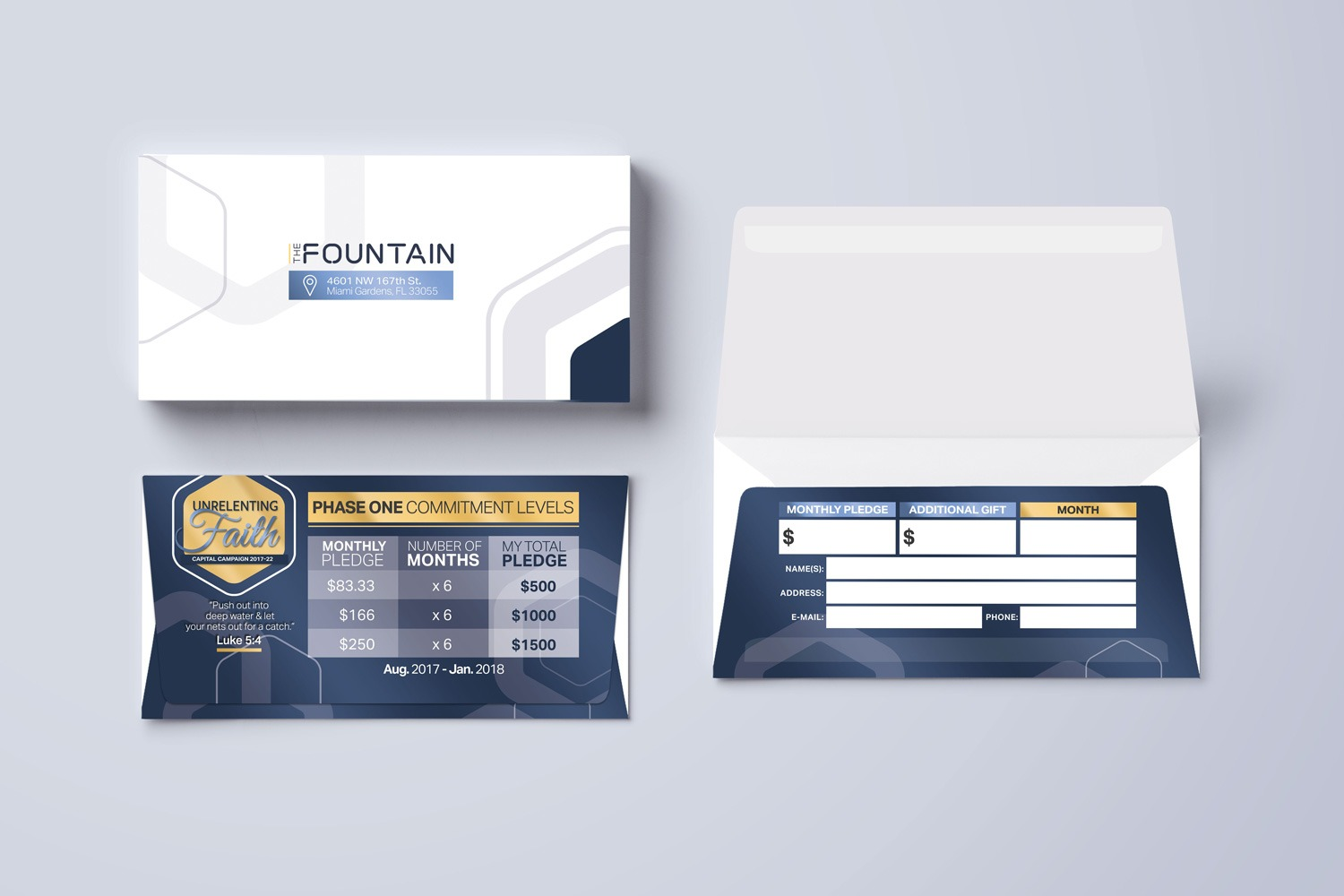 Remittance Envelopes for Church Capital Campaign design and printing examples ideas