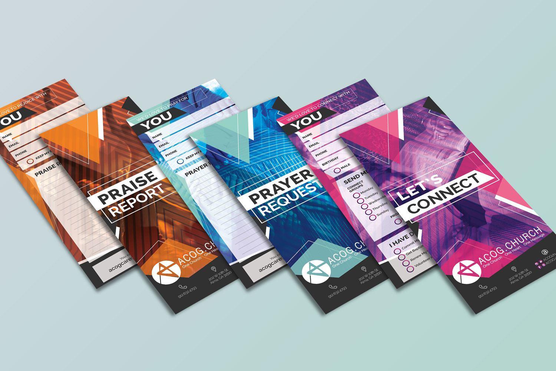 church prayer cards set for church outreach and marketing design