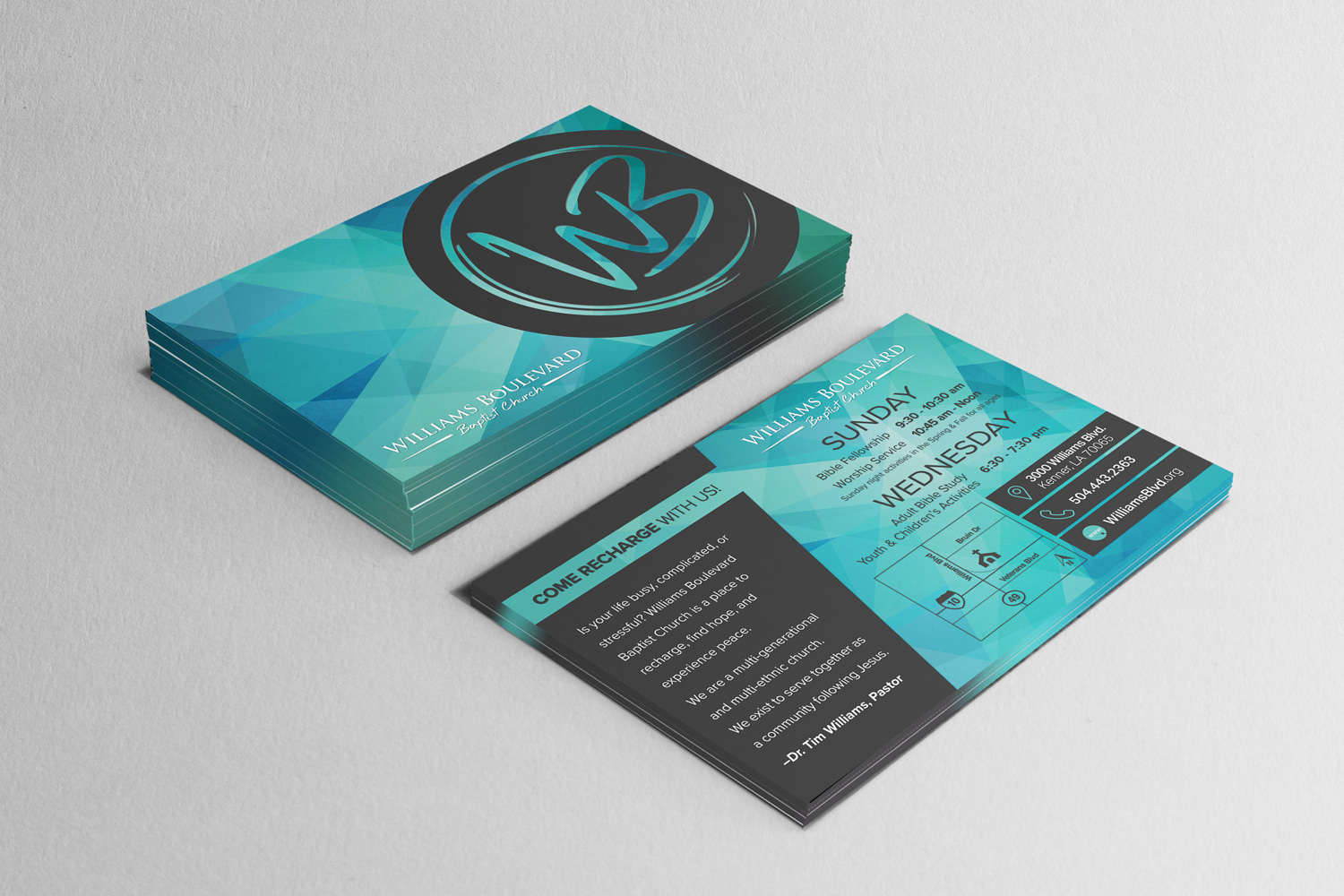 Church marketing postcard design and printing for outreach ideas