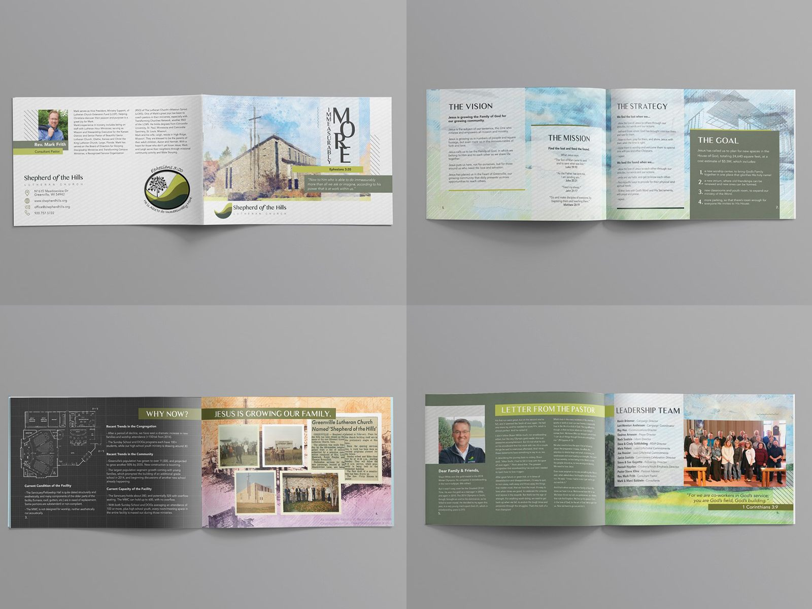 church capital campaign booklet or brochure design example theme