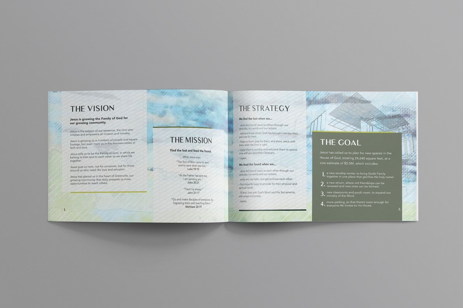 capital stewardship campaign case statement brochure Booklet examples ideas