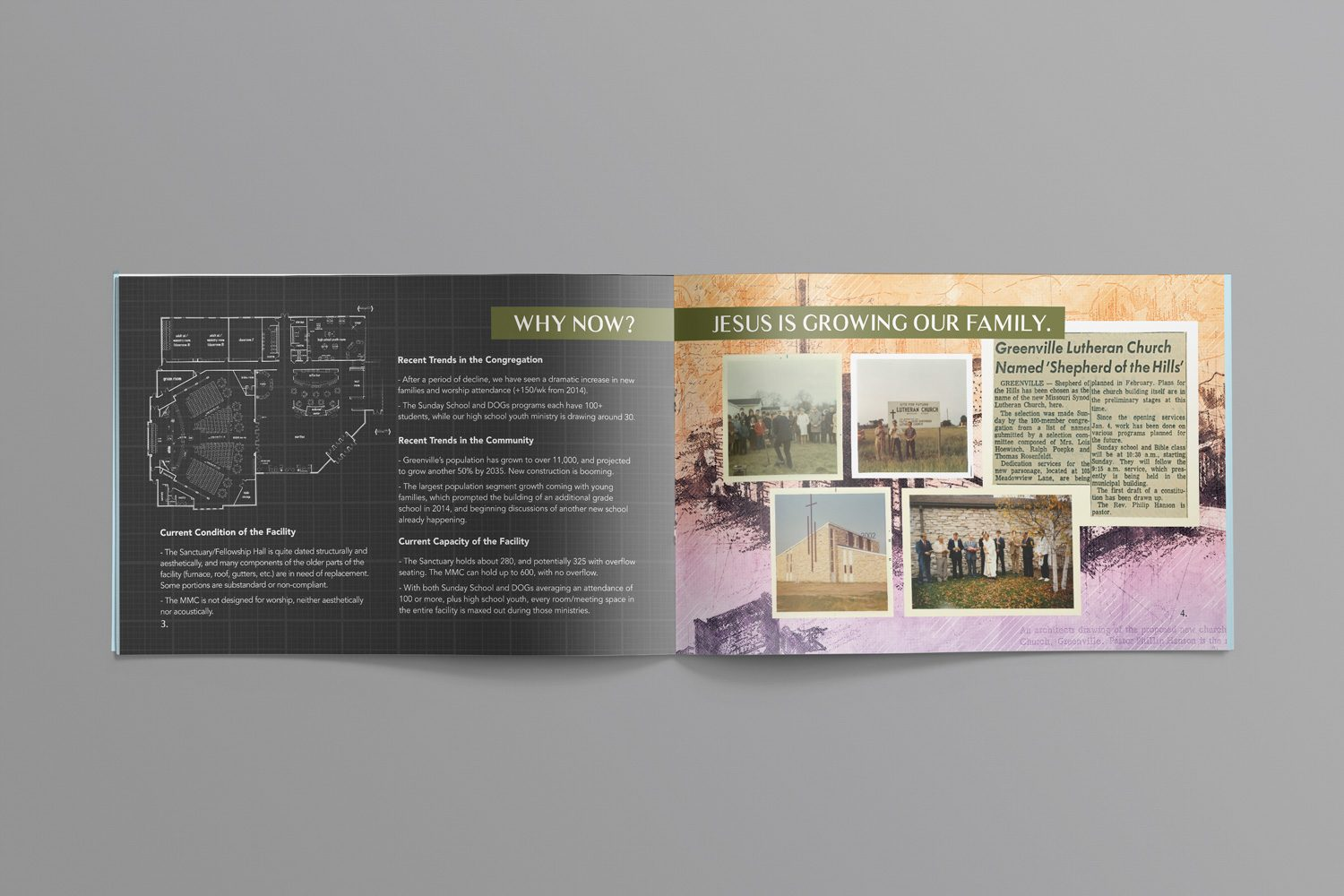 brochures for capital campaign examples for church fundraising by abstract union