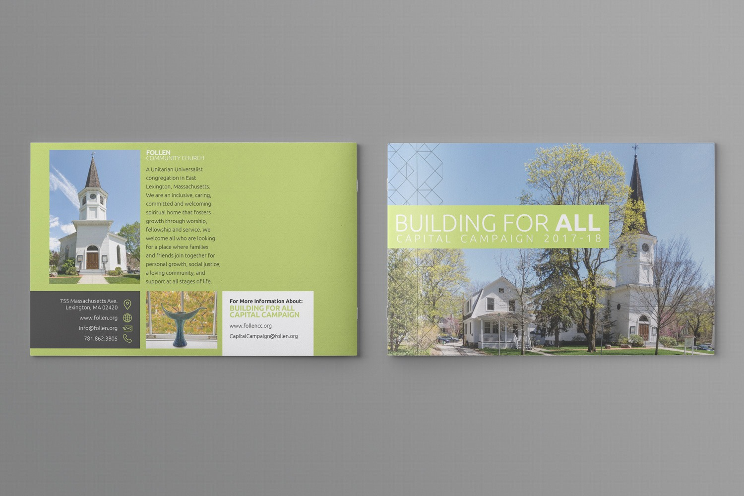 capital campaign case statement booklet brochure example ideas