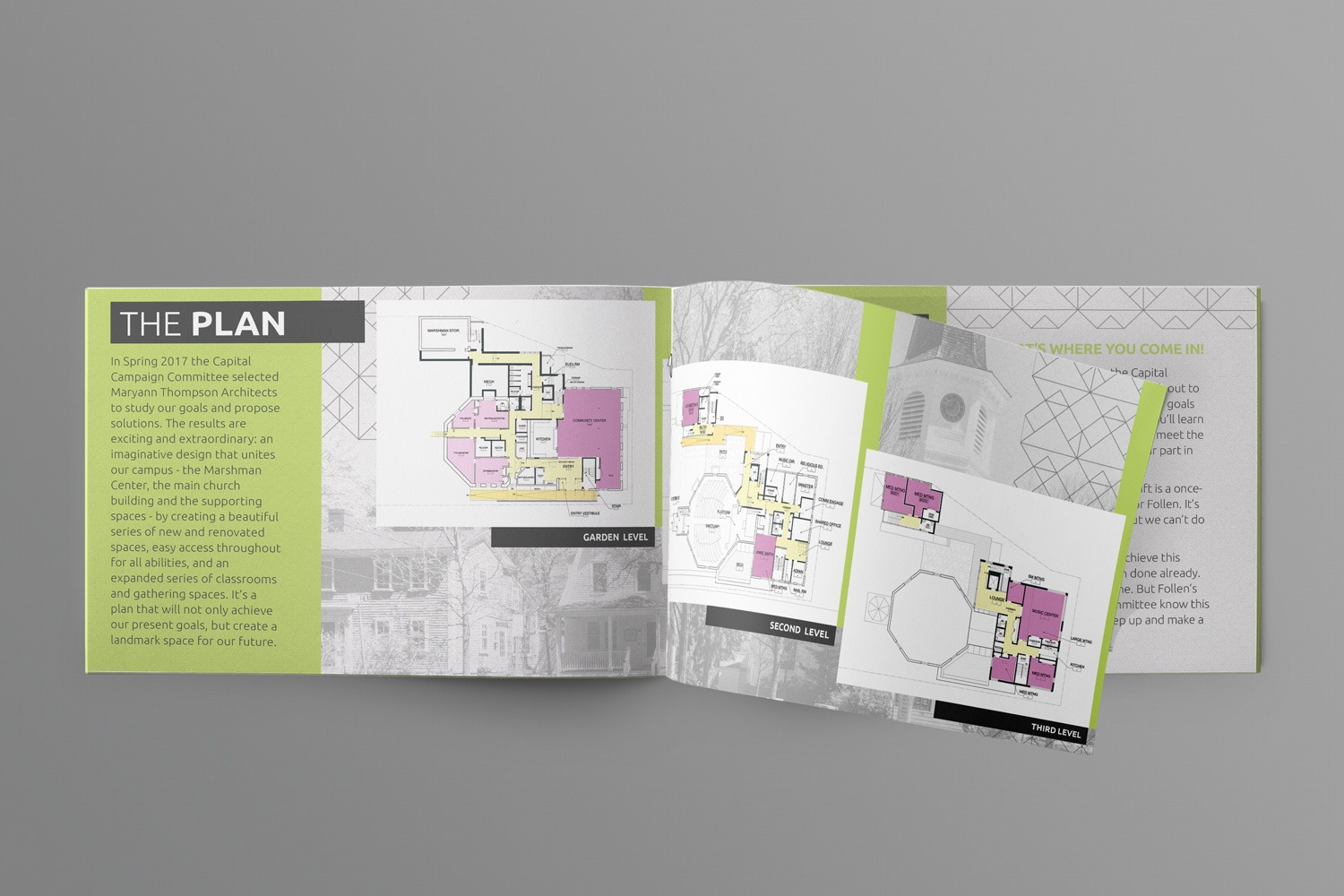 church capital campaign brochure & booklet  content examples ideas