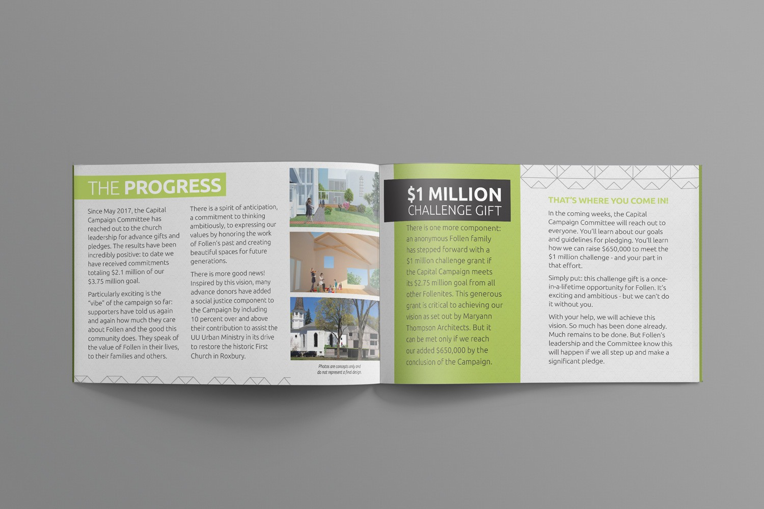 examples ideas for church capital campaign booklets