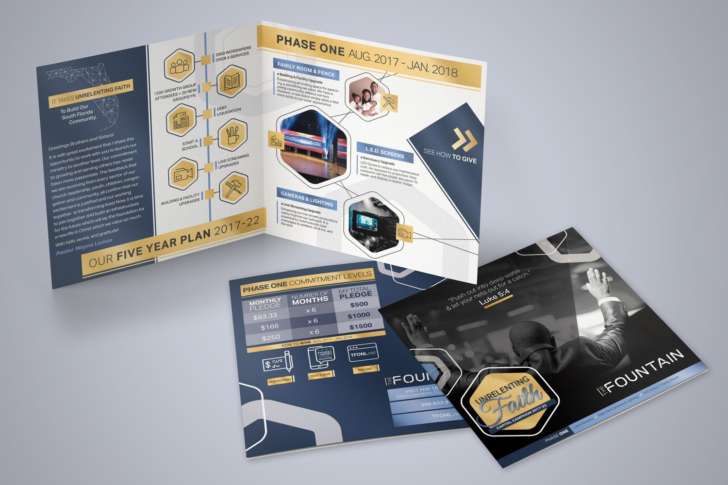 church capital campaign brochures examples ideas