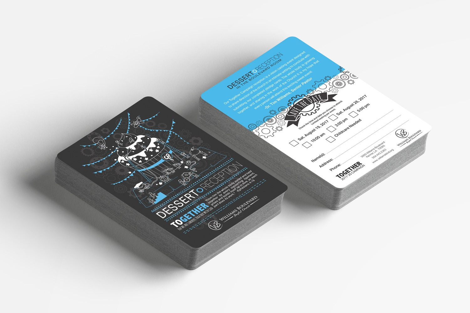 church invite cards for capital campaign stewardship materials