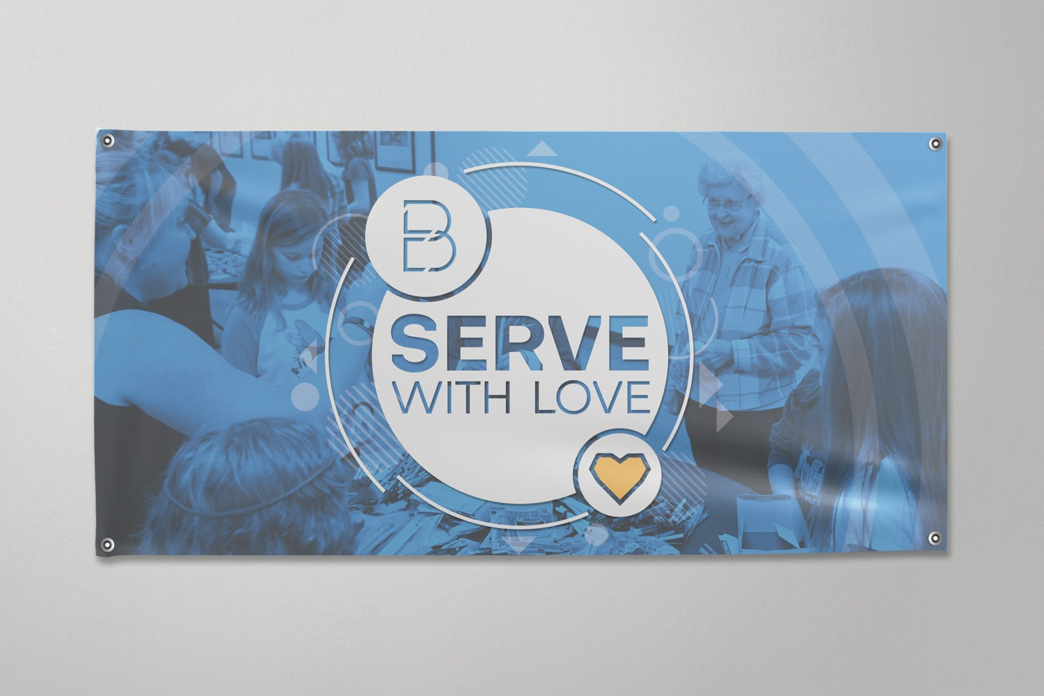Church Vinyl Banner: Full color - 1 sided, 2 x 4 ft. for outreach and marketing communications