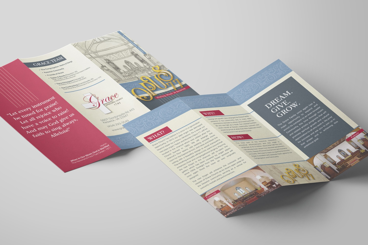 Church Capital Stewardship Campaign Brochures Design Examples & Ideas for Materials