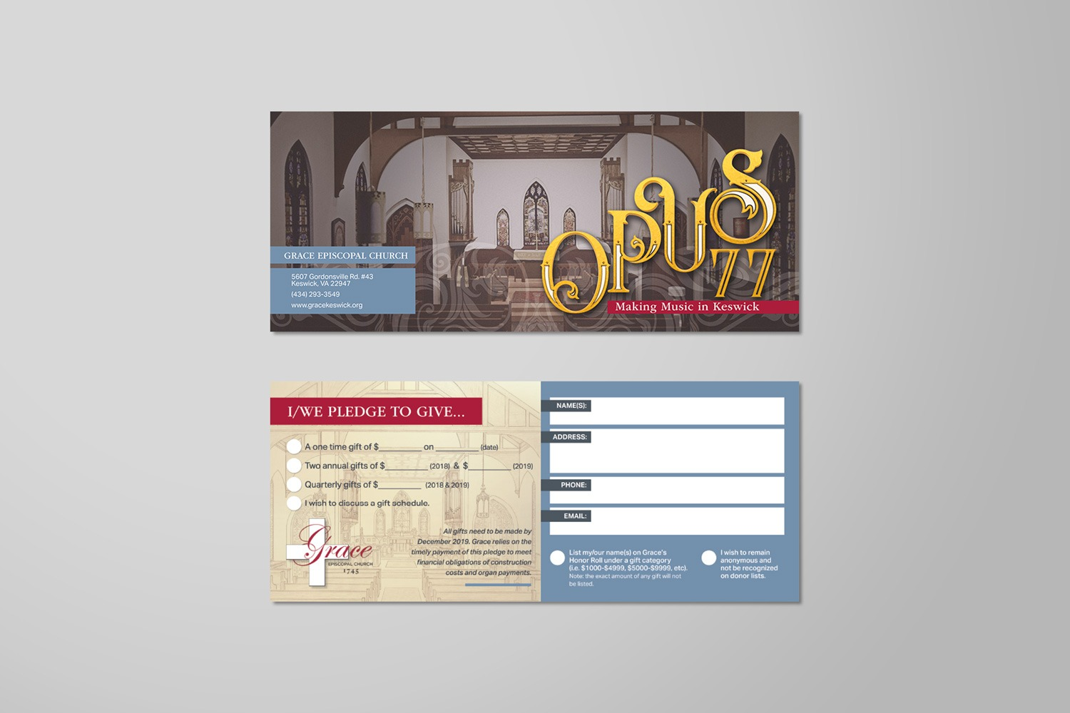 Church capital stewardship commitment cards design-t-print pledge cards examples, materials ideas.