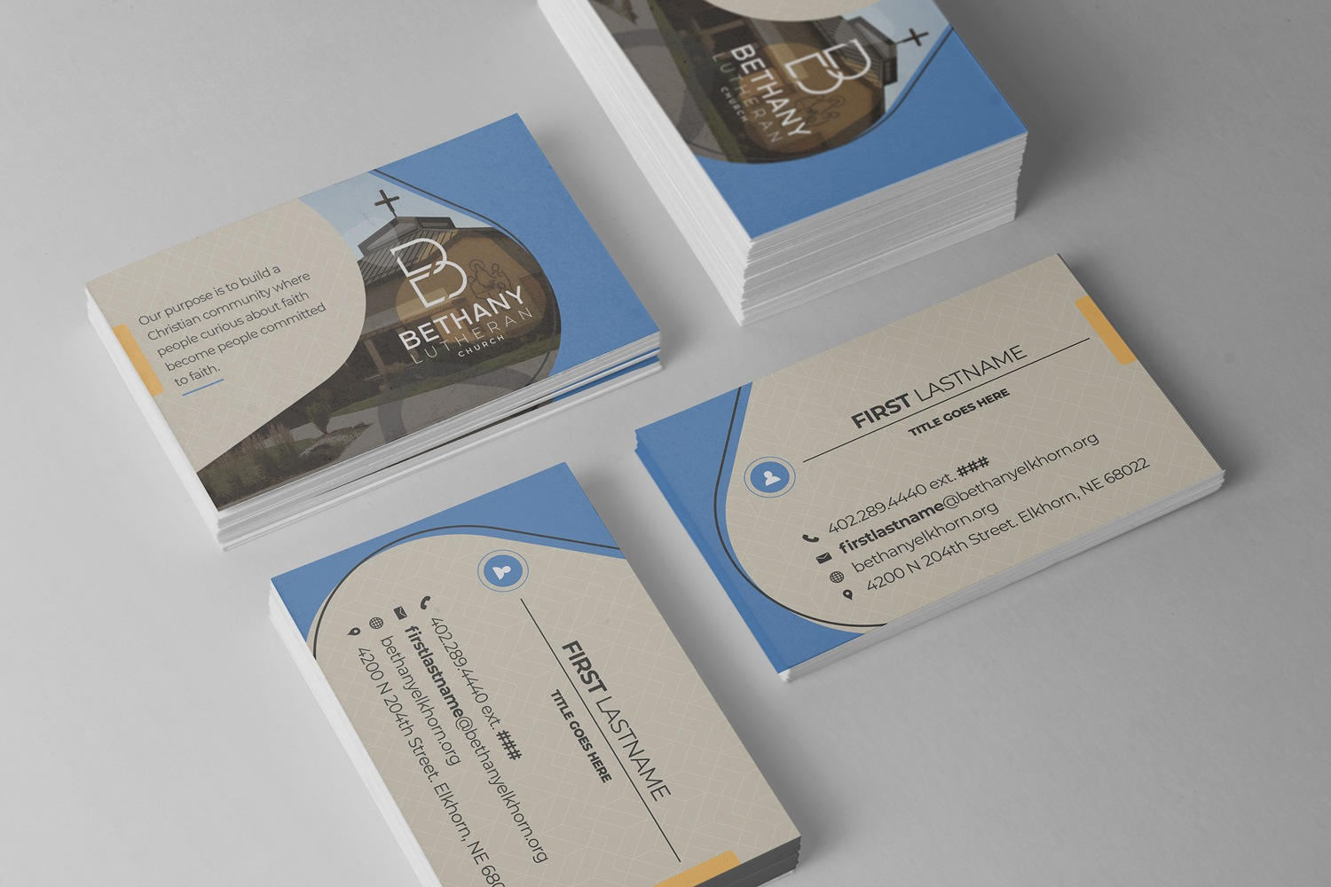 church business cards &  church logo design examples