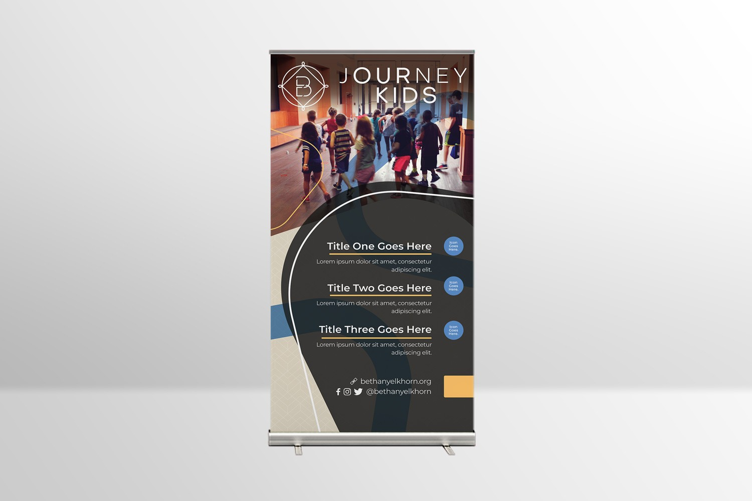 church retractable banner with ministry logo design ideas
