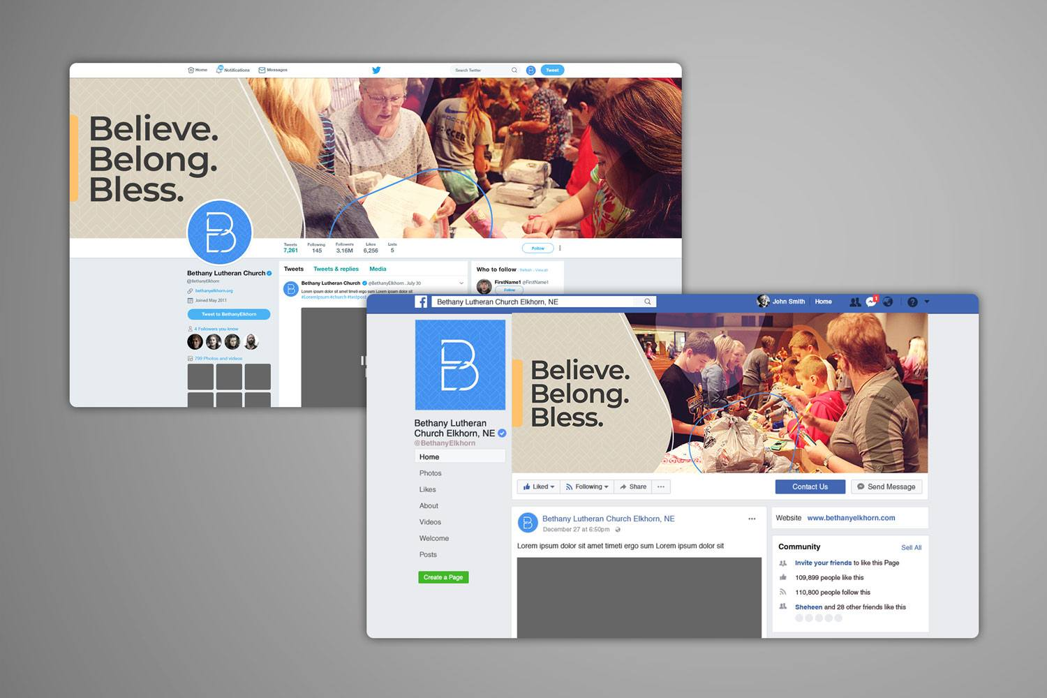 church social media design for church branding guide
