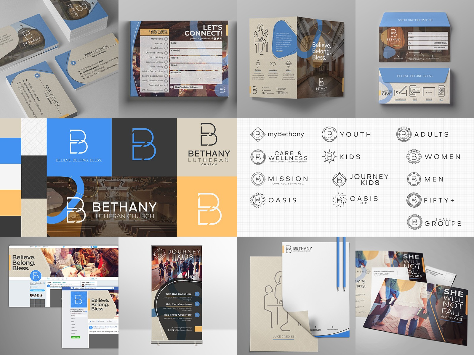 church branding and logo brand identity system best for lutheran church