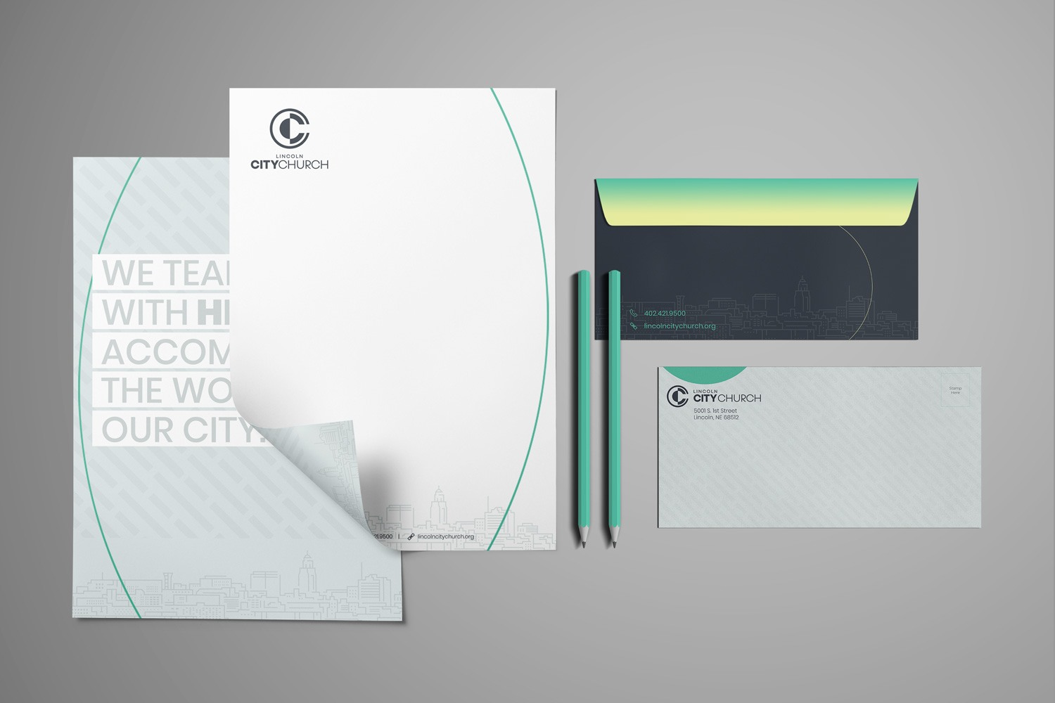 Letterhead Set for church marketing and outreach communications design