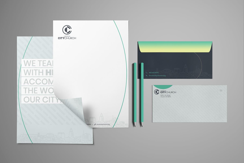 church logo letterhead and envelope examples for church branding