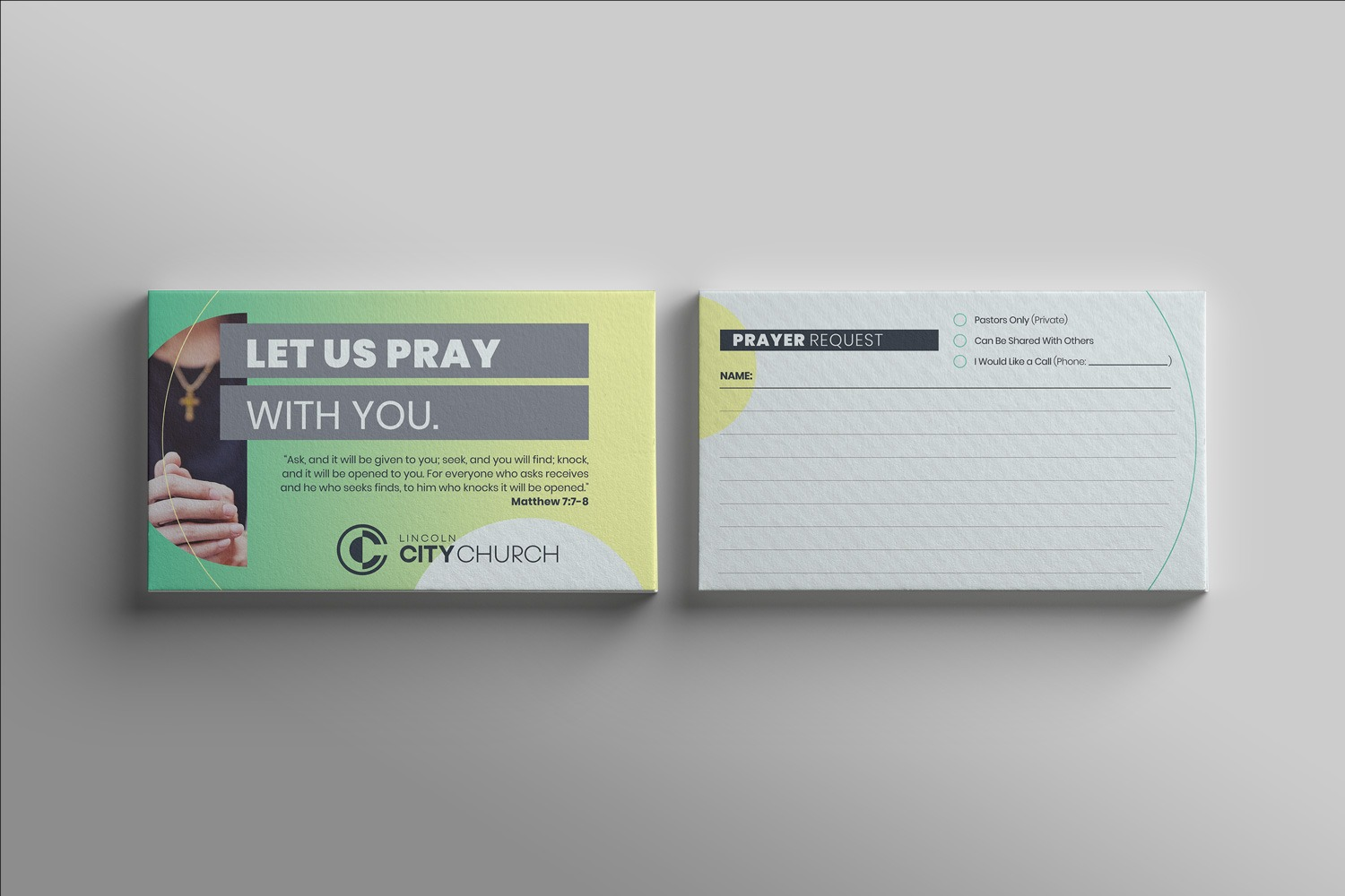 church prayer cards design and printing for church outreach design for church marketing communications