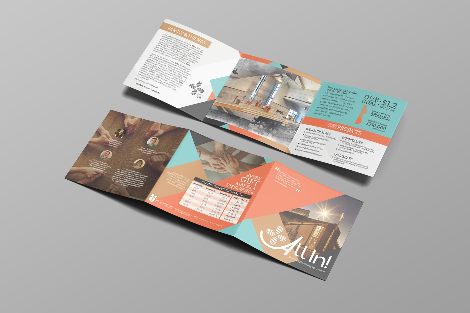 Church capital campaign brochures design case statement examples, ideas, template