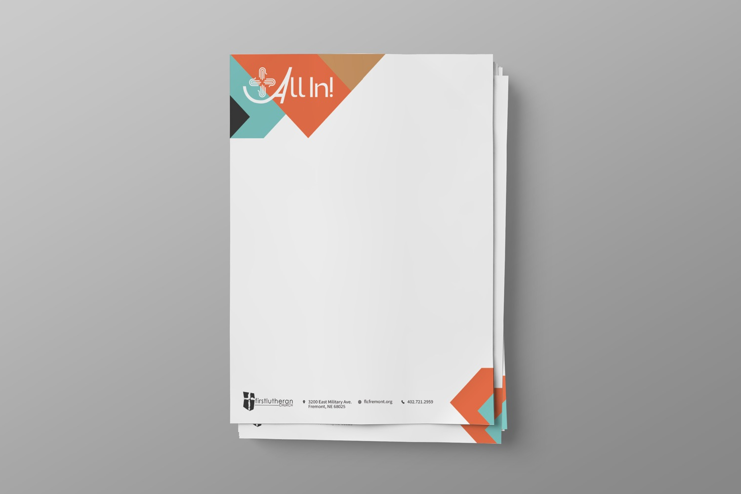 Church Capital Campaign Letterhead Set Design for  case statement letter examples & ideas