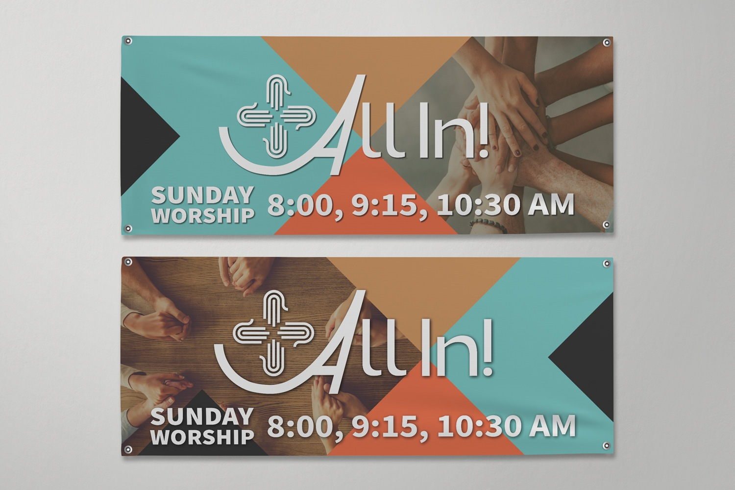 Outdoor church banners for church capital campaigns examples by Abstract Union in Lincoln, NE