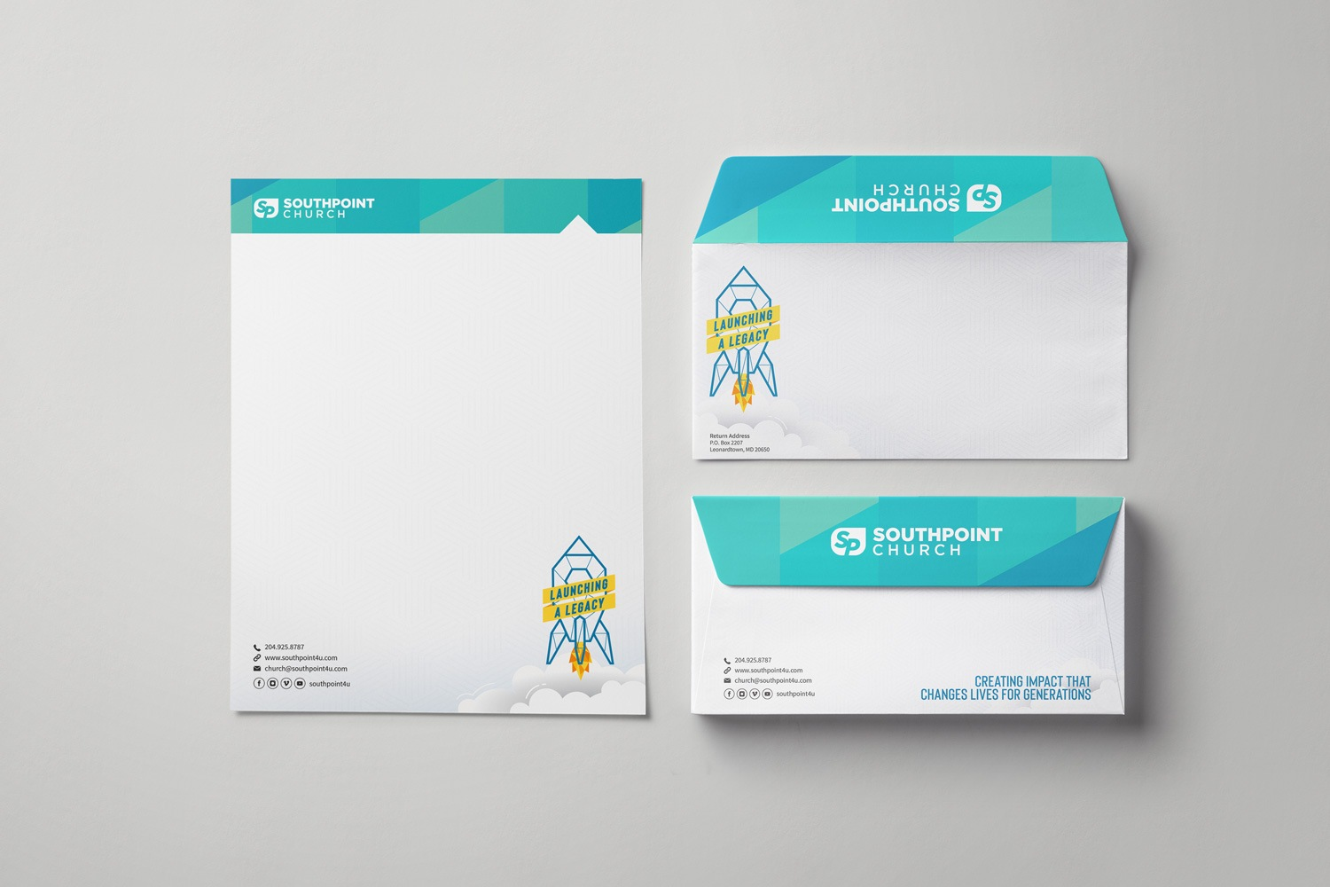 Church Letterhead & Envelope Set Modern Design