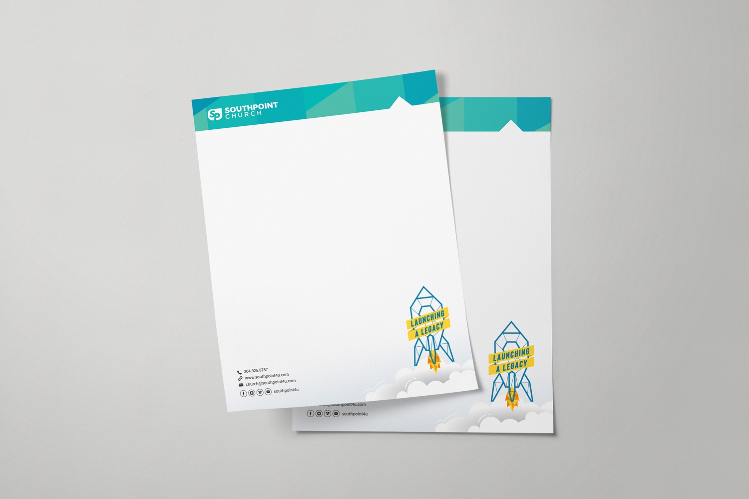 Church Building Campaign Letterhead Design Ideas