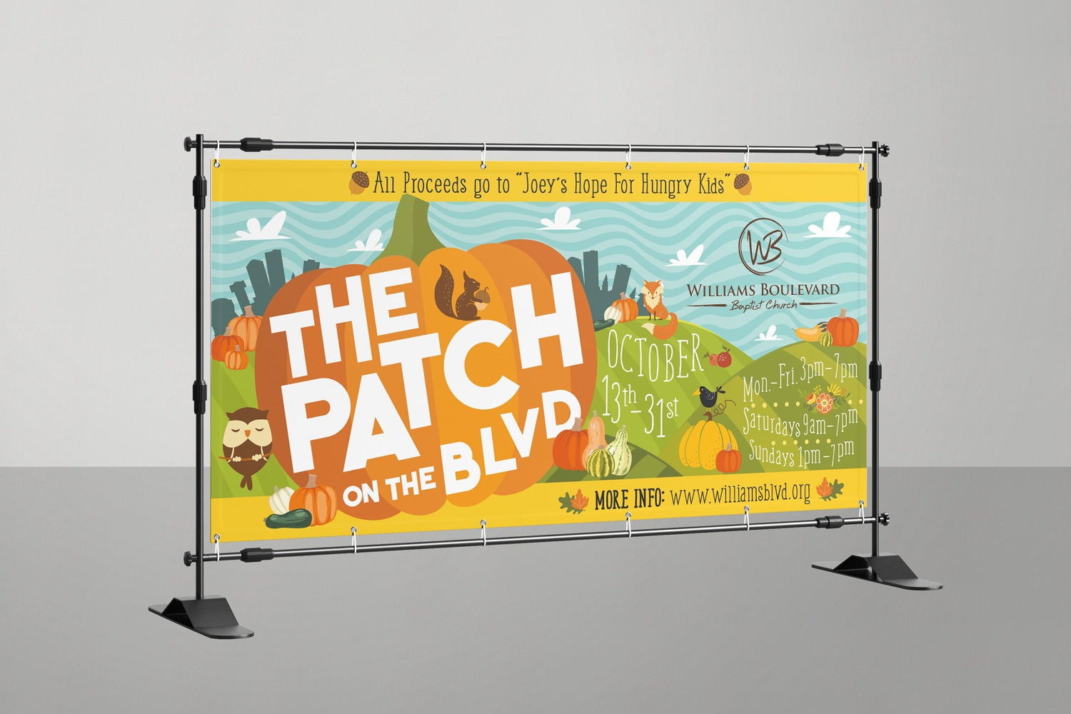 church vinyl banners with graphics for outreach event ideas