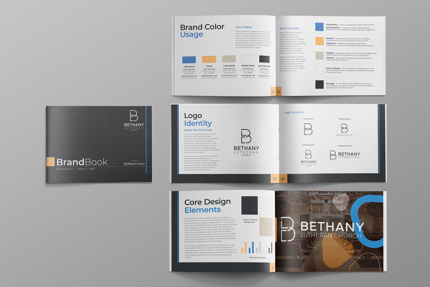 Church brand guidelines book for Ministry branding guide pdf design, colors, logo