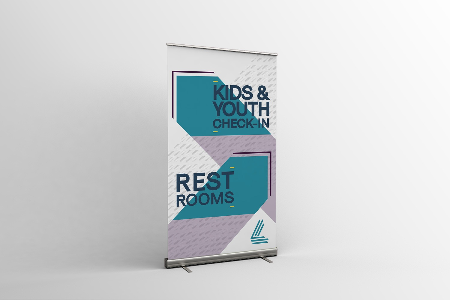 Church Retractable Banners for Wayfinding church branding style guide