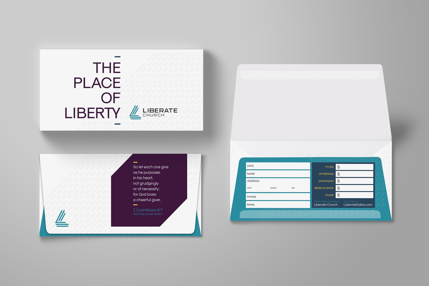 Offering envelope for church branding strategy & Guide