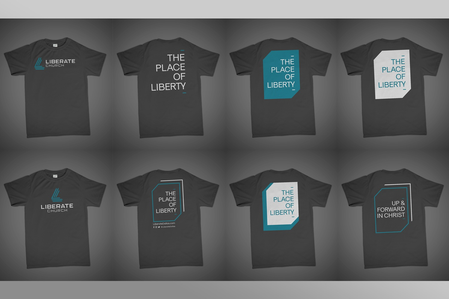 Church t-shirt design for church branding guide and logo samples
