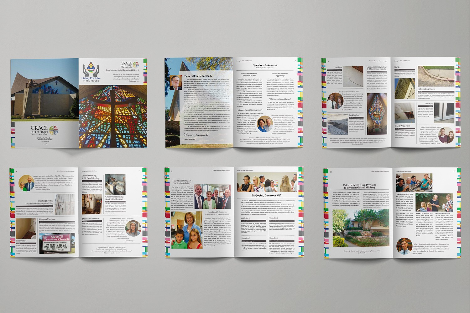 Church Fundraising campaign case statement brochure design and printing ideas