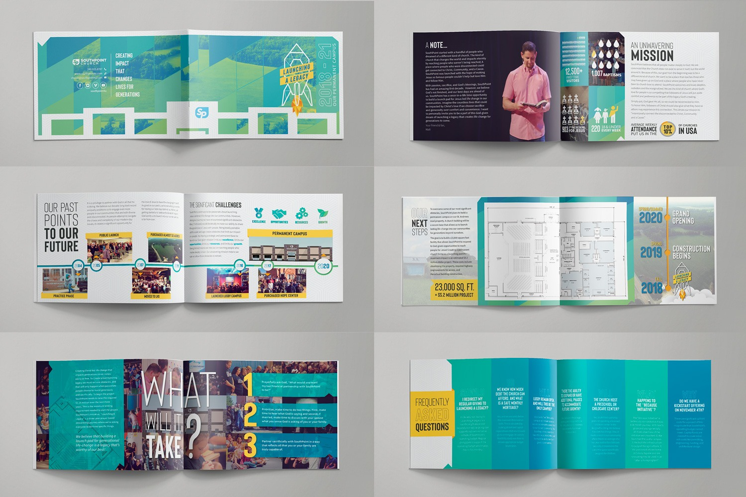 church building capital campaign brochure design materials ideas for stewardship examples