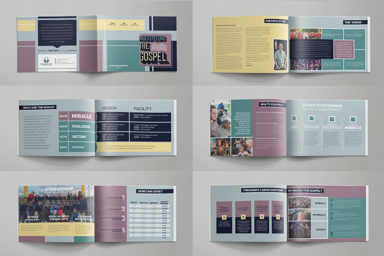Booklet Design for Church Capital Campaign Brochures and Stewardship Slogans by Abstract Union