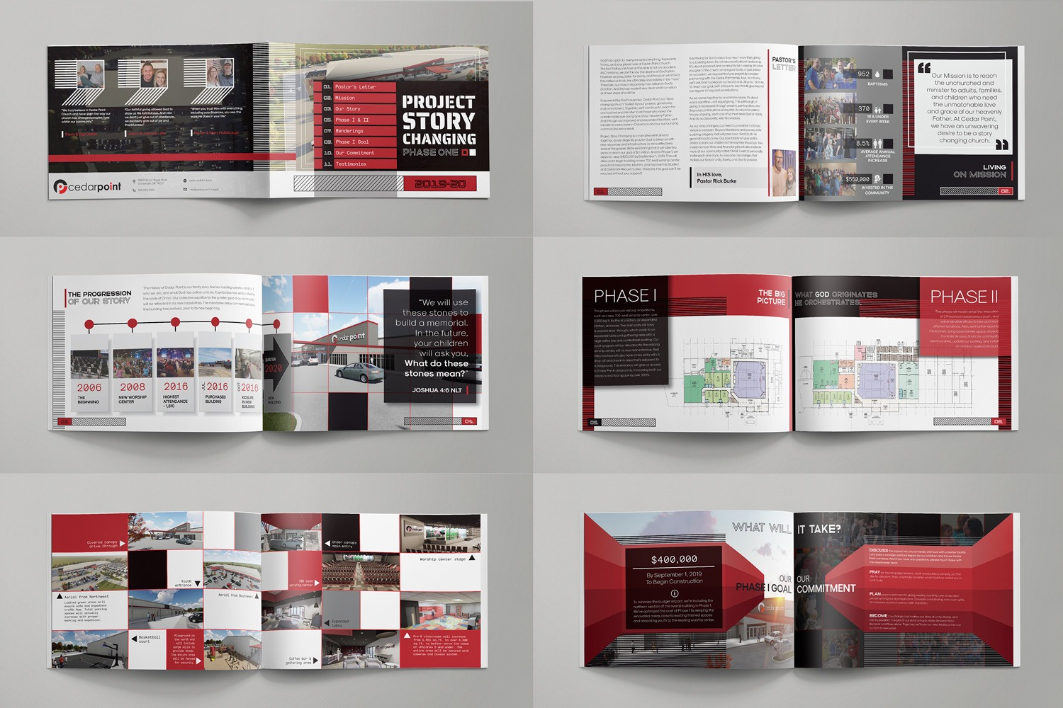Booklets & Brochures For Church capital campaign themes custom design by abstract union