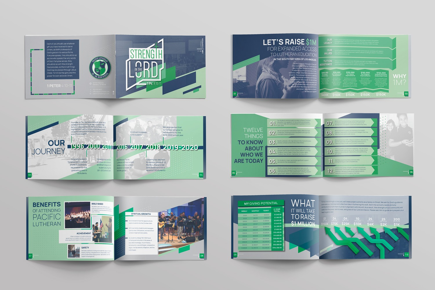 School capital campaign brochures, booklet design for case statement modern christian by Abstract Union