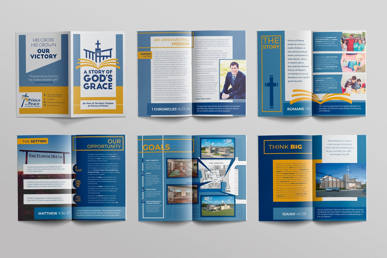 Traditional case statement brochures and church capital campaign theme and slogan ideas