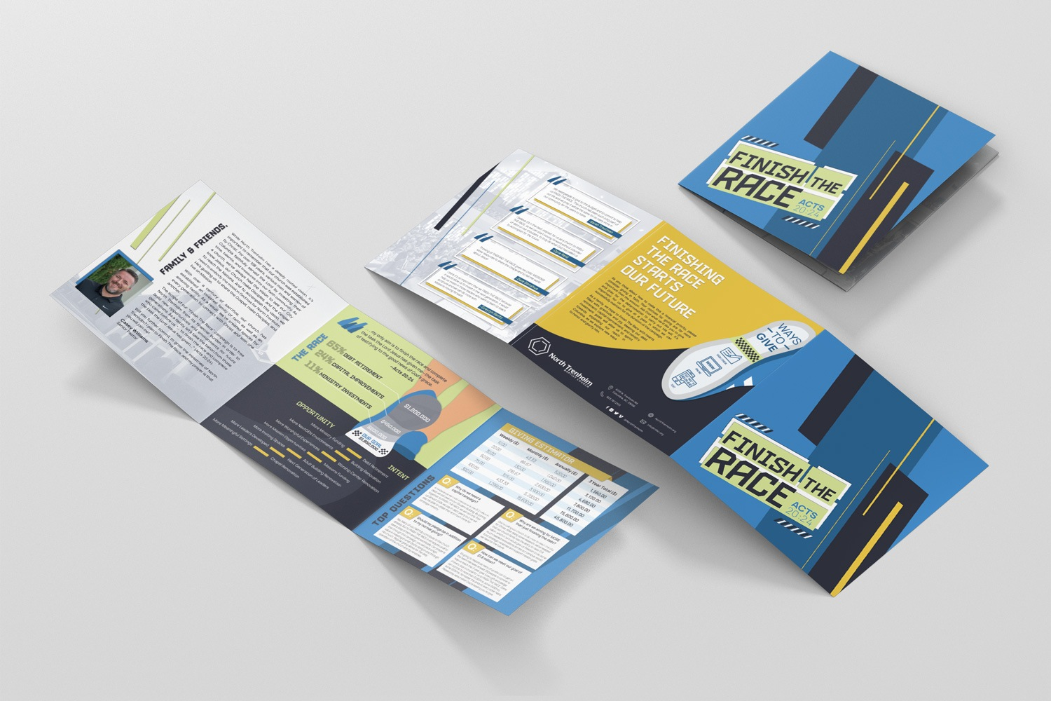 Baptist church capital campaign brochures, stewardship them and slogans ideas, template design by abstract union