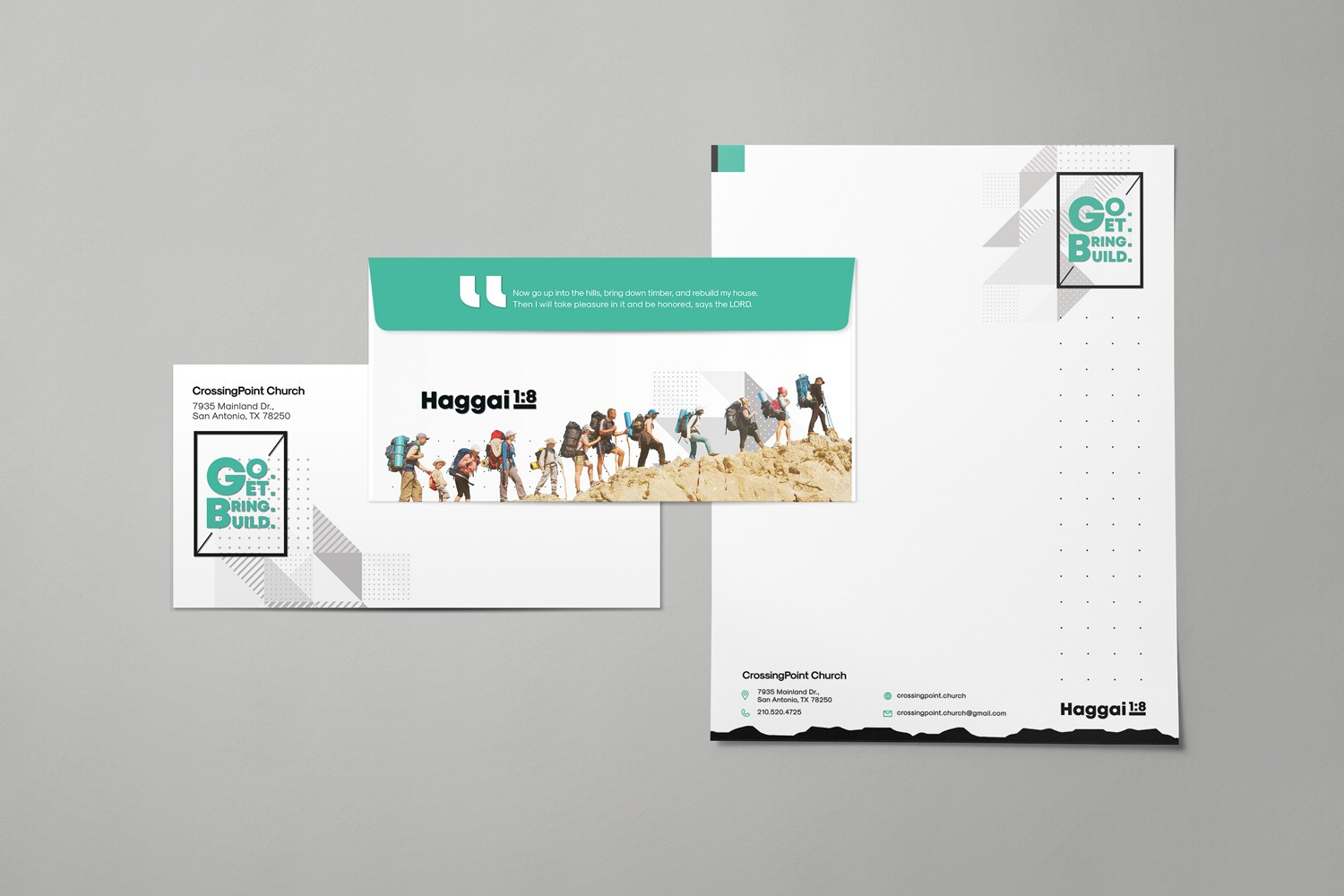 church stewardship campaign letterhead and envelope design examples and campaign themes by Abstract Union