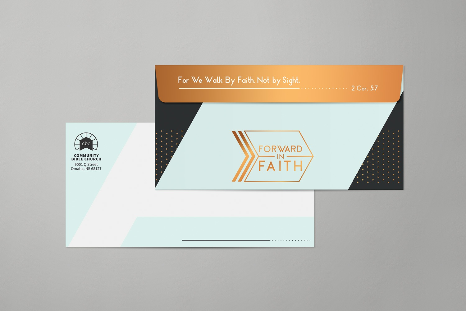 Church capital campaign envelopes design and printing for nondenominational church by Abstract Union