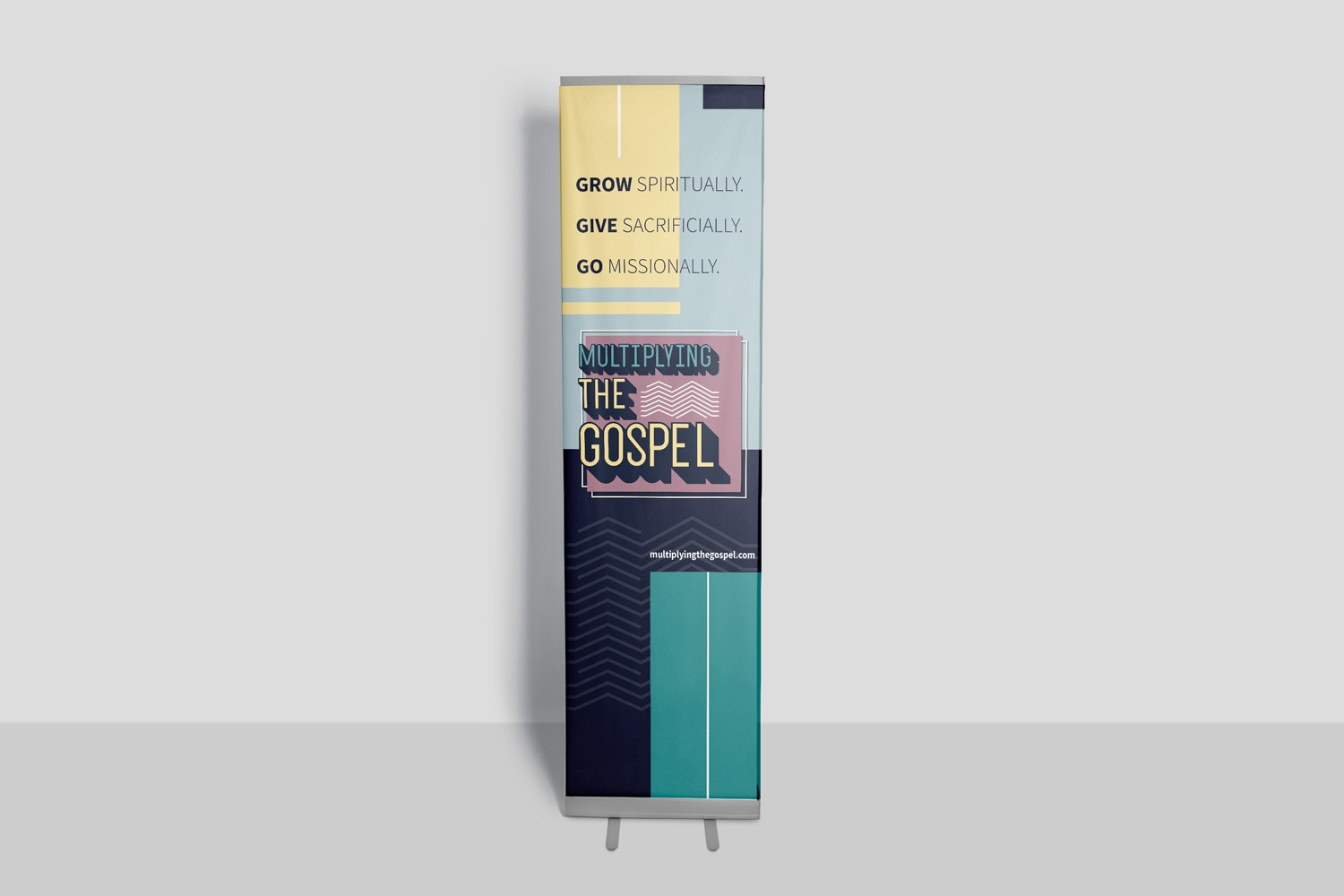 Church capital campaign retractable banners ideas and examples by Abstract Union in Lincoln, NE