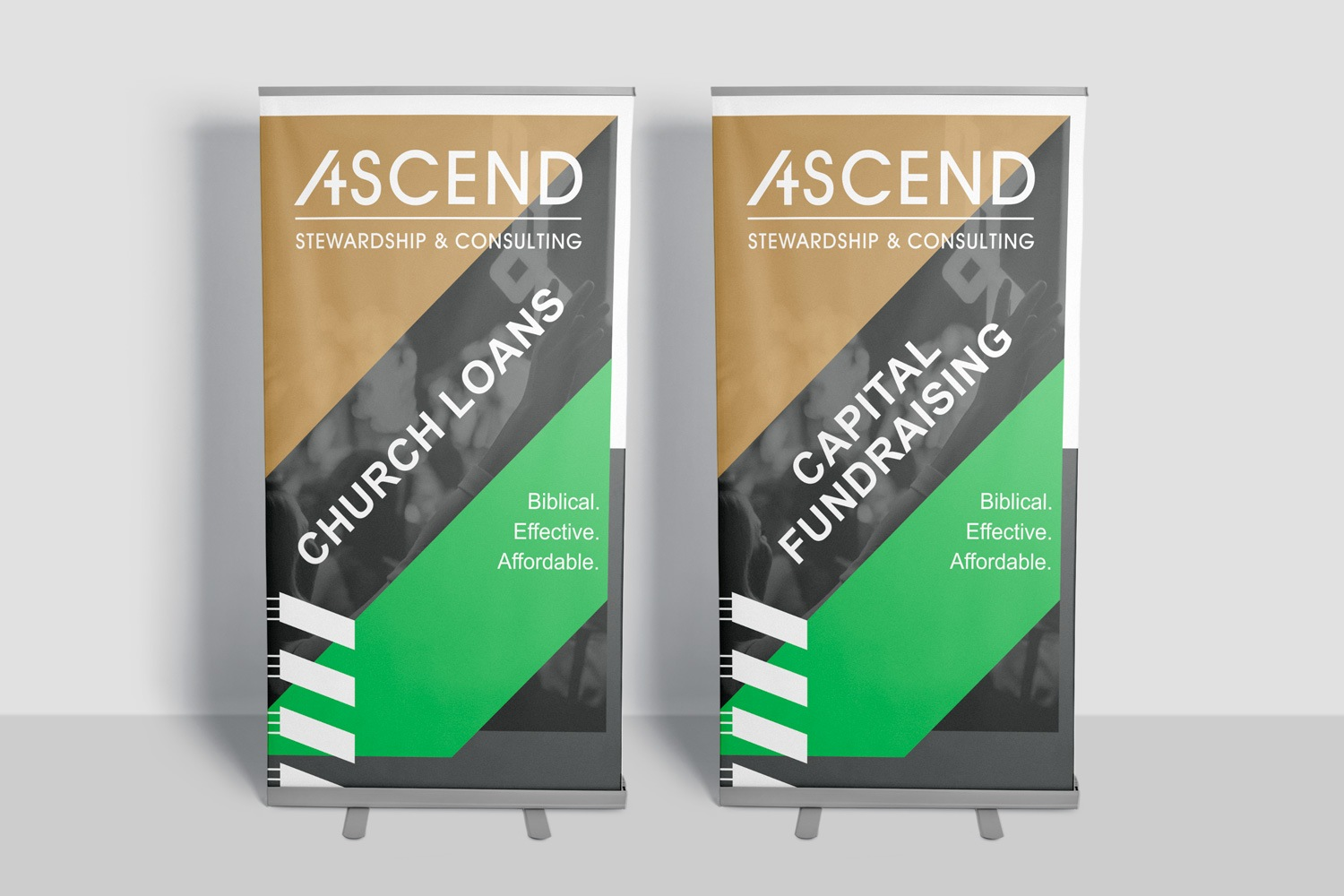 Church Stewardship Campaign Roll banner / Retractable banner example by Abstract Union in Lincoln, NE