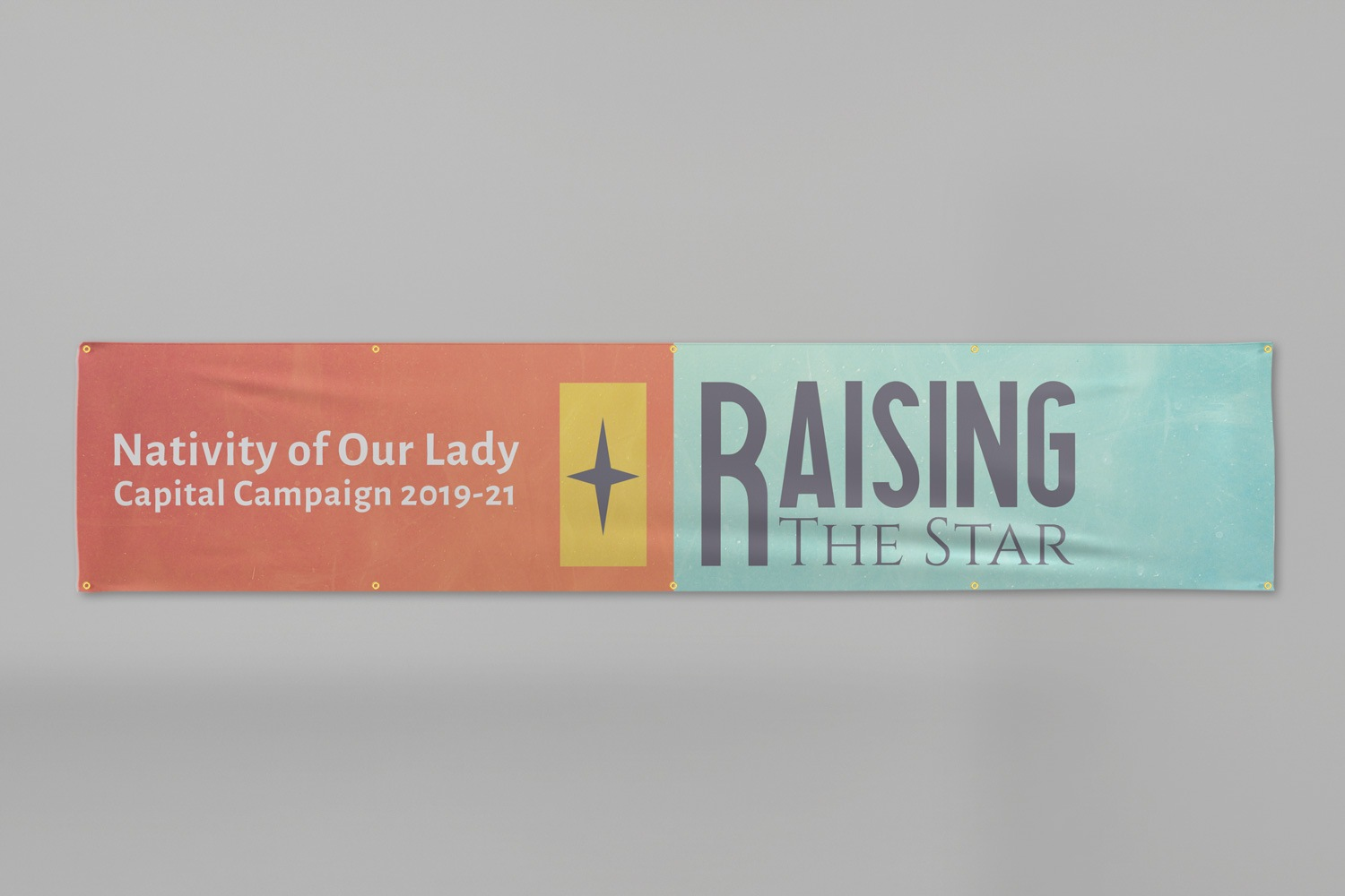 3 x 14 ft. capital campaign vinyl banner ideas and example by Abstract Union in Lincoln, NE