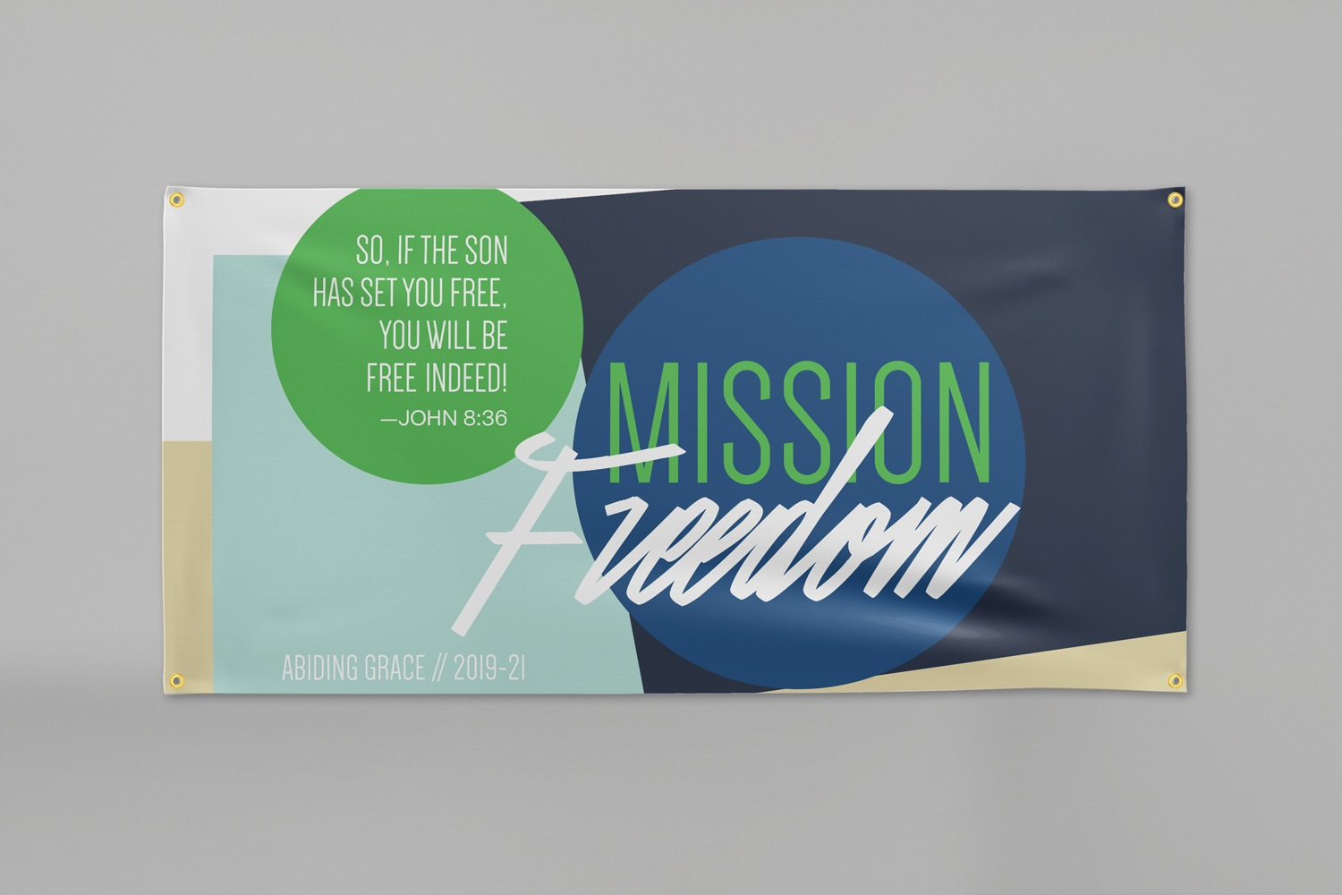 3 x 6 ft. Church capital campaign vinyl banners by Abstract Union in Lincoln, NE
