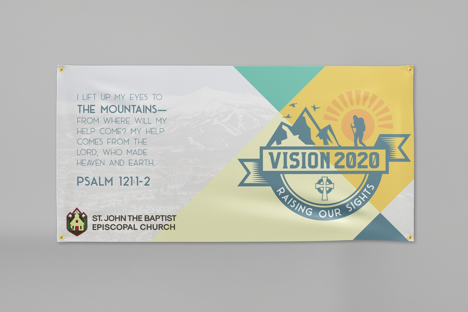 3 x 6 ft. custom church banner for church capital campaigns by Abstract Union in Lincoln, NE