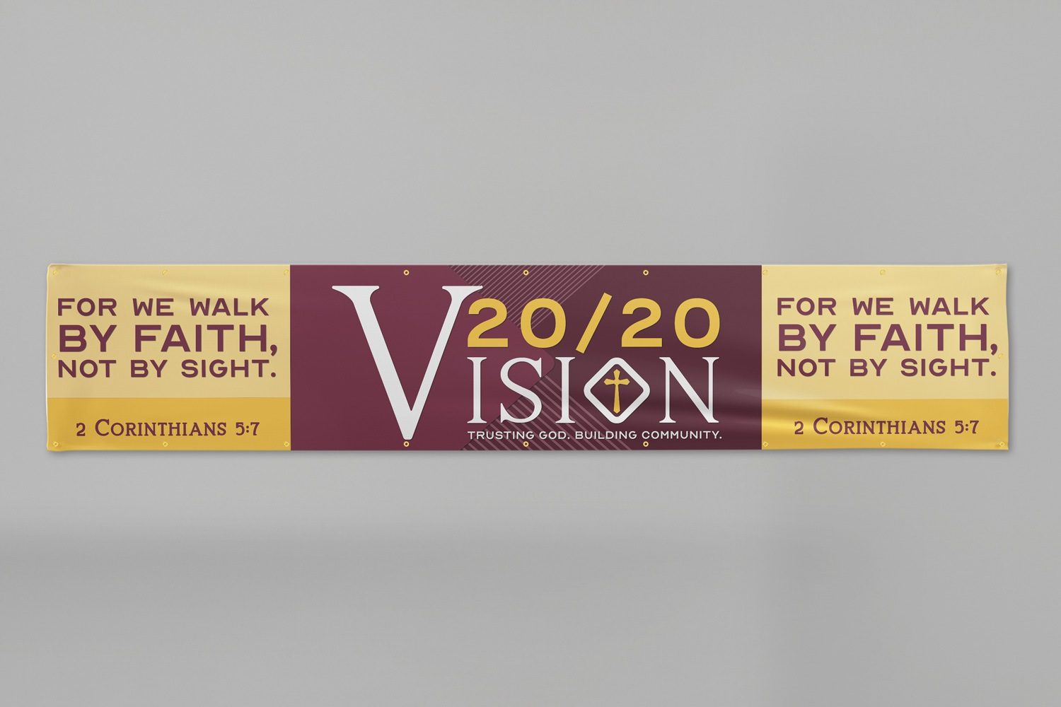 XL custom wall banners for church capital campaigns by Abstract Union in Lincoln, NE